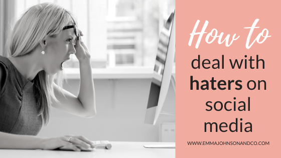 Dealing with trolls and haters on social media blog